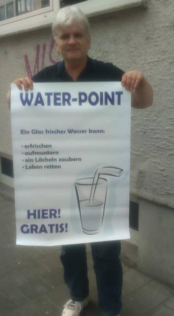 Der Wassermann in der Bahnhofstraße